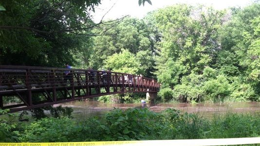 A dive team is searching for a 28-year-old man who is missing after he fell into the swollen South Skunk River this afternoon in Ames. The river runs through Carr Park, which is where the man attempted to get off a tube he was on with friends.