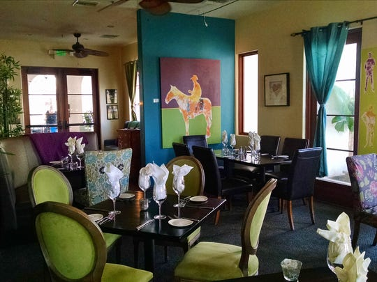 Solano's Bistro provides a colorful setting for diners.