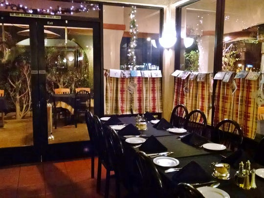 The interior of Le Donne Cucina Italiana reflects the old-world charm of traditional Italian dining.