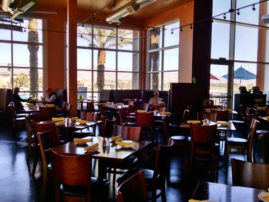 The restaurants provide open space and floor-to-ceiling windows with ample desert views.