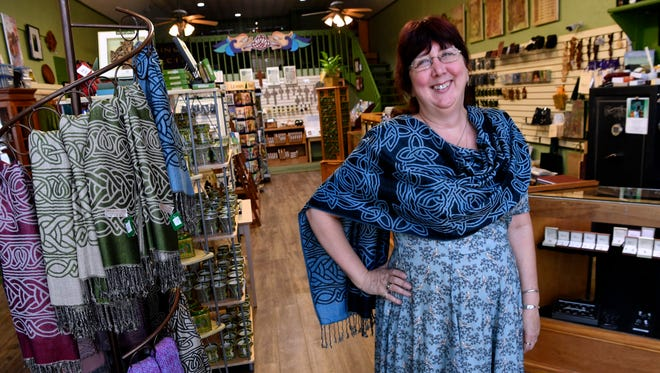 """Lanora Davidson the owner of new store in Dublin, Things Celtic. The store features items from Scotland, Ireland and a """"wee bit"""" made in the USA."""