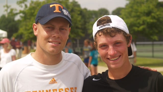 Sean, left, and Steven Karl at the 2014 TSSAA state tennis championships