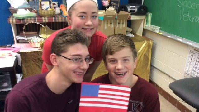 D.C. Everest students crafted cards and wrote poetry to honor veterans.