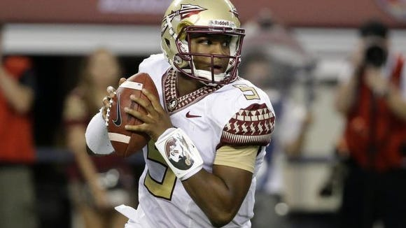 Jameis Winston and the defending national champion Florida State Seminoles return to action Thursday at Louisville.