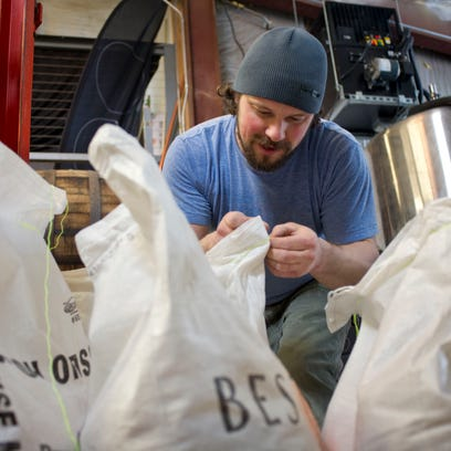 Brian Eckert owner and head brewer of Four Quarters