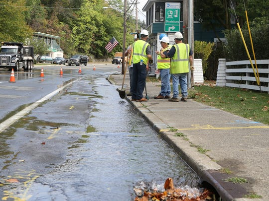 A water main break closes Route 17 in both directions