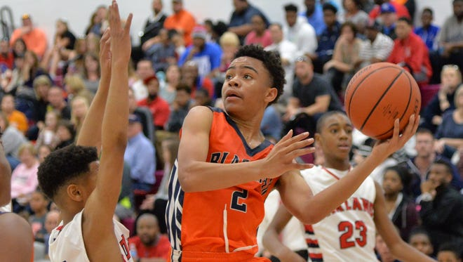 Blackman's Ray Tyler scored 30 points in a 51-37 win over Oakland Middle on Saturday.