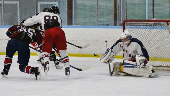 File photo of Stepinac goalie Mike Spano.