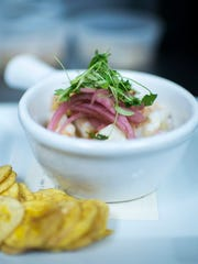 The Culture Ceviche from The Shark on the Harbor: Shrimp
