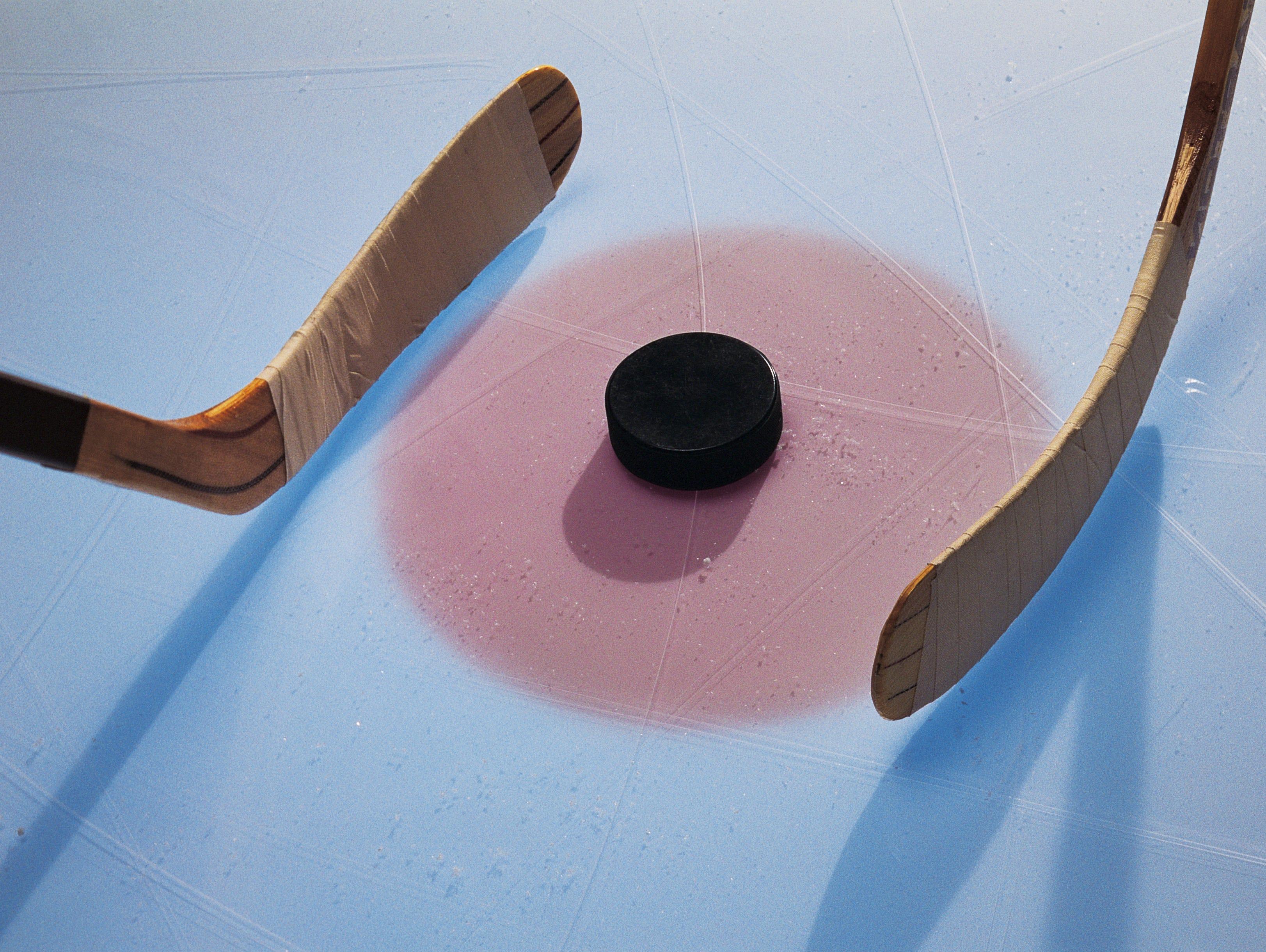 Ice hockey puck.