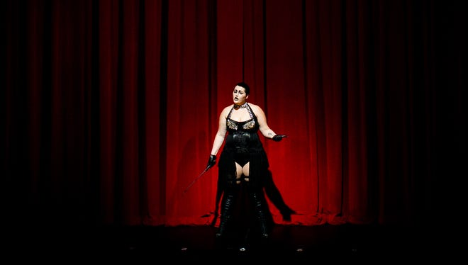 """The show is started during a dress rehearsal for """"The Rocky Horror Show"""" at Sugden Community Theatre in Naples, on Thursday, Oct. 6, 2016. The Naples Players are putting on """"The Rocky Horror Show"""""""