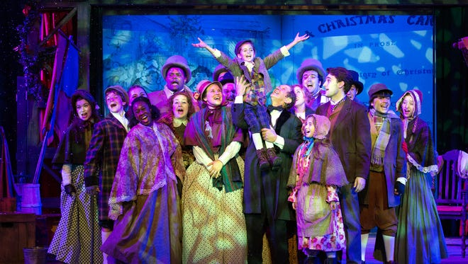 "The cast of ""A Christmas Carol"" at Walnut Street Theatre in Philadelphia. The production runs through Dec. 23."