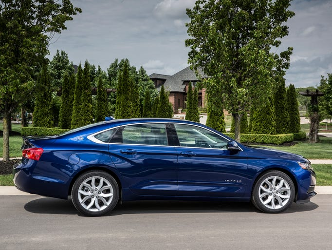 Influential Consumer Reports magazine gave the 2014 Chevrolet Impala very high scores, helping it get a solid sales start. The 2.5L model with four-cylinder engine is pictured.