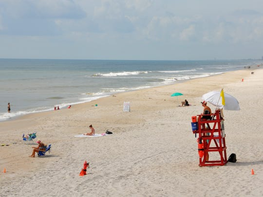 A view of Pelican Beach Park Tuesday morning. Brevard