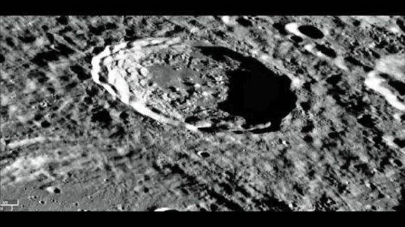 Kirkwood Crater on the moon. (NASA photo)
