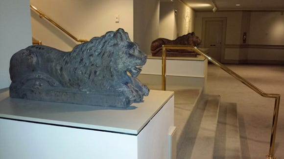 Pair of lions at York County Heritage Trust