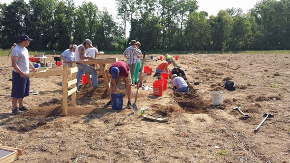 Digging and sifting at Camp Security 2015