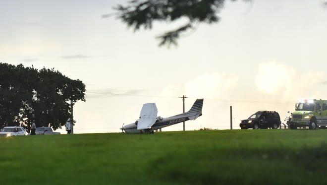 A small Cessna crash landed at A.B. Won Pat Guam International Airport on Monday, Sept. 25, 2017.