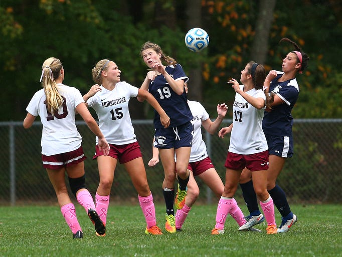 Chatham's Jennifer Olnowich takes the ball from a free