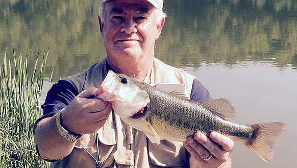 I caught this bass Sunday while fishing in Pennsylvania.