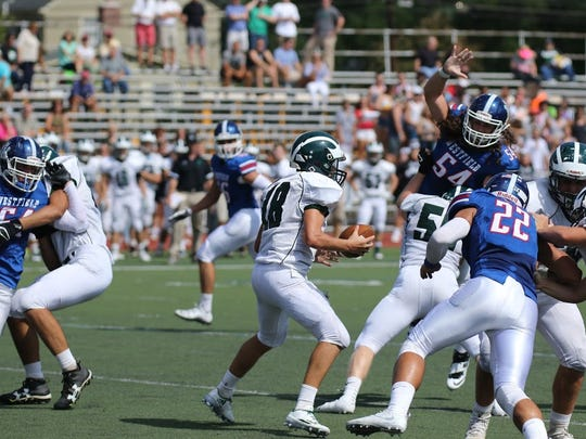 Westfield's Nick Maher (54) is the Courier News Football Player of the Week.