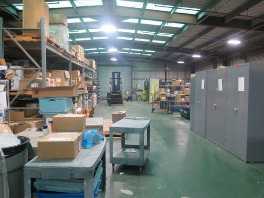 BEFORE: The supply warehouse at Letterkenny Munitions Center was cluttered prior to the installation of a modern inventory tracking system in 2017.