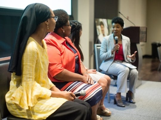 BlueCross Diversity Scholarship recipients (left to