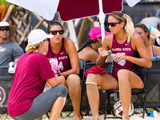Brooke Niles is entering her third season as FSU's beach volleyball coach.