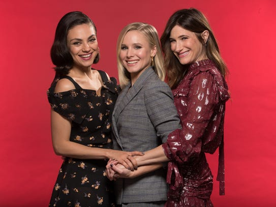 The cast of 'A Bad Moms Christmas': Mila Kunis, from