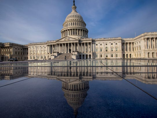 The Capitol is seen in Washington, Jan. 3, 2018, as