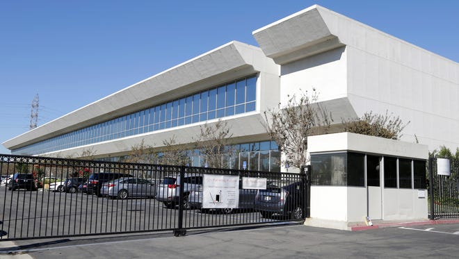 The Faraday Future building in Gardena, Calif. Chinese-backed electric carmaker Faraday Future plans to build a $1 billion manufacturing plant in North Las Vegas, according to a letter the company sent Nevada officials Wednesday, Dec. 9.