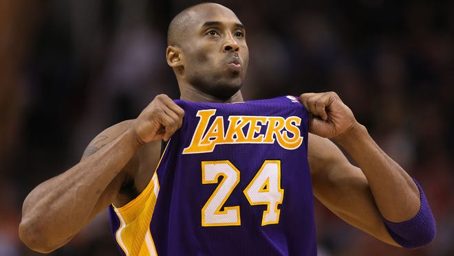 Kobe Bryant will have his No. 24 and No. 8 retired by the Lakers in December.