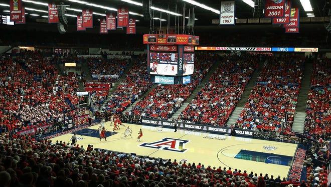 McKale Center in Tucson, Arizona.