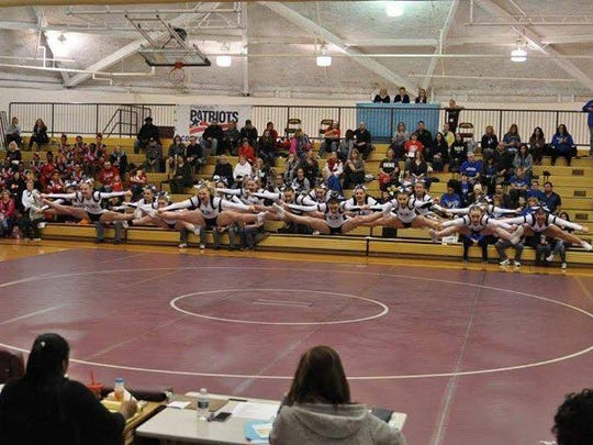The Richmond High School Cheer team won its division at the Tri-County Meet this paste weekend at Warren Mott High School.