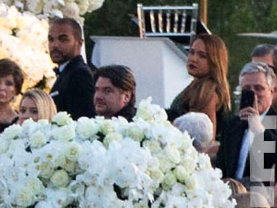 O.J. Simpson and Nicole Brown Simpson's children Justin Simpson, left, and Sydney, right, attend their cousin Sean Brown's wedding.