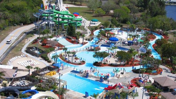 Aerial view of Sun Splash Water Park