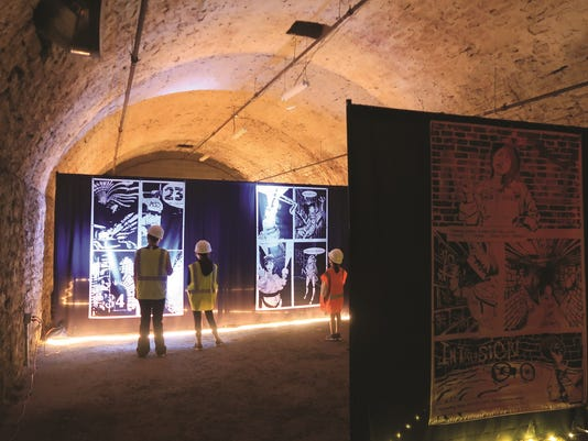 Visitors enjoy the immersive experiance and watch a comic come alive.
