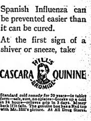 Hill's Bromide Cascara Quinine advertisement as a Spanish