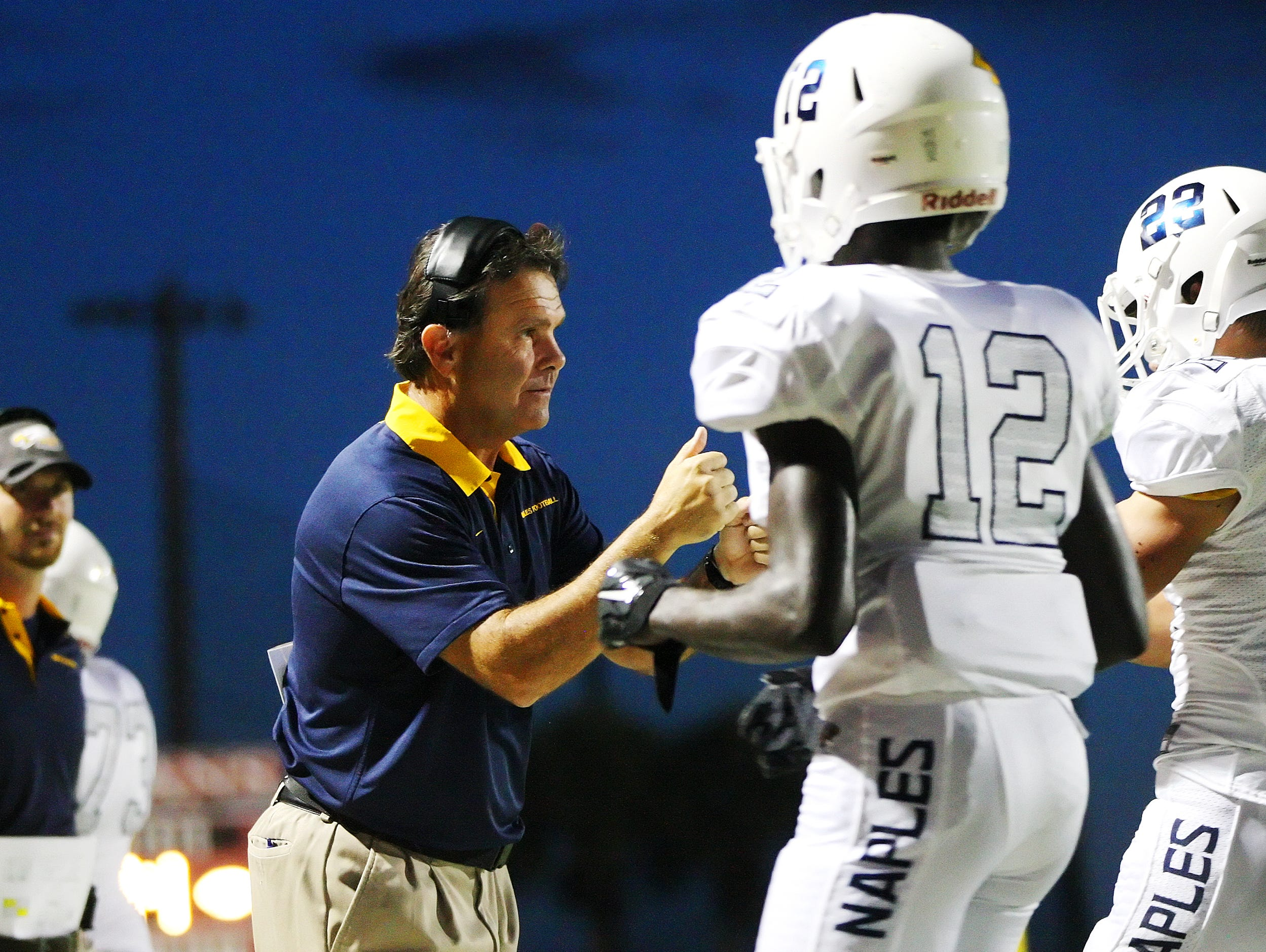 Naples High School head coach Bill Kramer has guided his team to the FHSAA Class 6A semifinals. Naples will play Miami Central on Friday at Traz Powell Stadium in Hialeah.