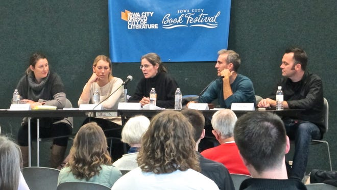 Iowa Writers' House Publishing 101 Panel during Iowa City UNESCO City of Literature's book festival on Oct. 3, 2015.
