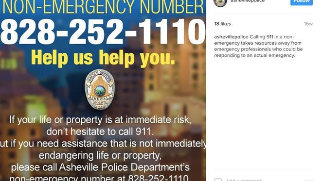 The Asheville Police Department created an Instagram account in August 2015. They had 543 followers as of March 6, 2017.