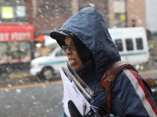 Letter Carrier, Carolyn Jenkins, does not allow snow