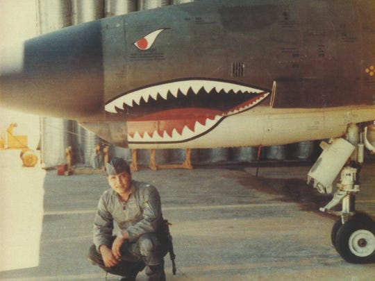 The late Robert Cheveres of Camarillo poses with one of the loves of his life, the F4 Phantom fighter jet. Rising to the rank of U.S. Air Force lieutenant colonel, he was a decorated combat pilot with two tours in Vietnam.