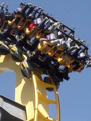 2012: Batman The Ride is shown in 2012.