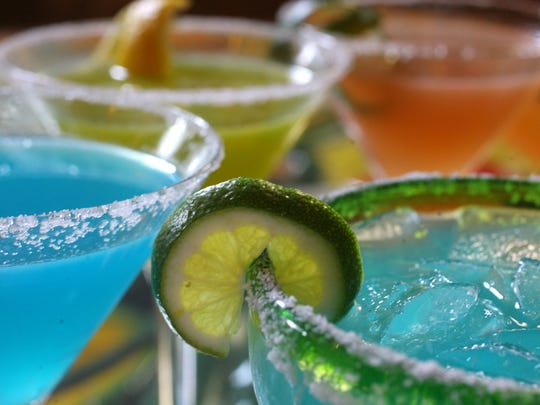 This is a group of tequila drinks from Javier's Hacienda, formerly known as El Sol de Tala Mexican restaurant, 2444 East Washington Street.