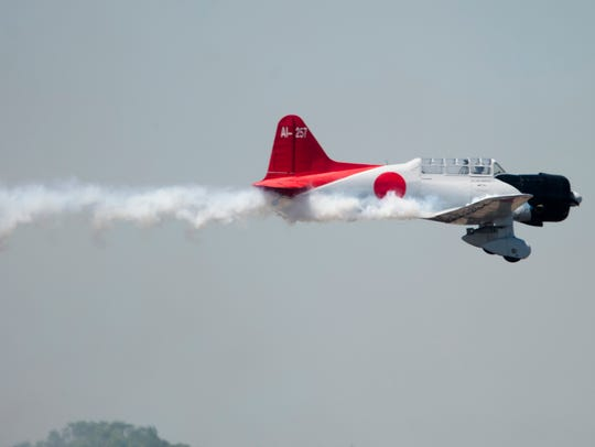 Airplanes fly in the Tora, Tora, Tora! performance