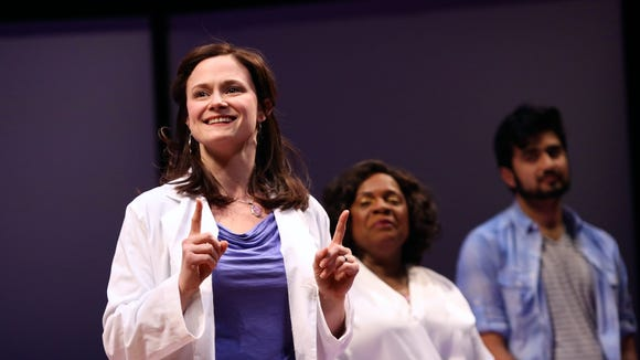 """Jessica Wortham portrayed a genetic anthropologist named Jillian in """"Informed Consent"""" at Geva Theatre."""
