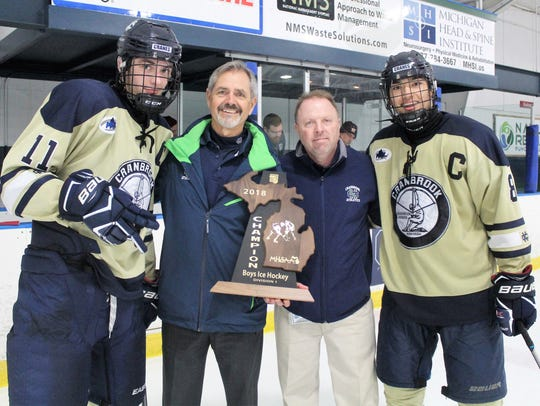 Bloomfield Hills Cranbrook Kingswood co-captains Chase
