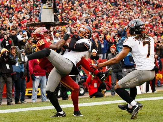 Iowa State Cyclones wide receiver Marchie Murdock (16)
