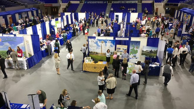 The largest career fair to occur in the region in some time took place in early May at FGCU's Alico Arena.